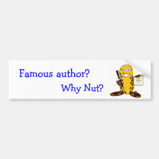 ¿Autor famoso? ¿por qué nuez? Pegatina Para Auto