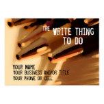 Autor… la cosa de la escritura a hacer tarjeta de negocio