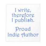 Autor orgulloso del indie blocs de notas