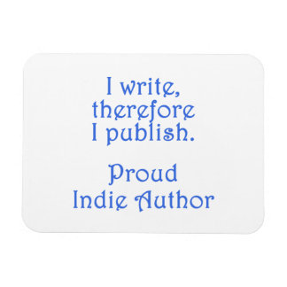 Autor orgulloso del indie imán foto rectangular