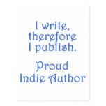 Autor orgulloso del indie postal