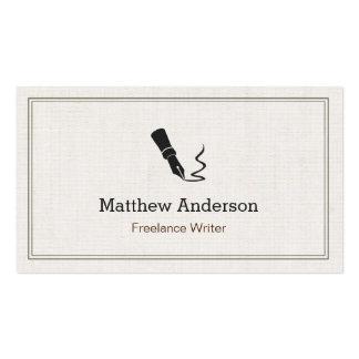 Autor profesional del redactor del escritor - lino tarjetas de visita