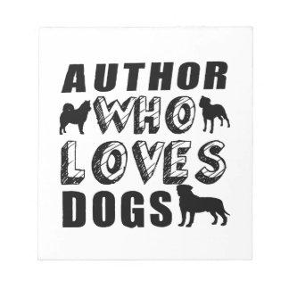 autor que ama perros bloc de notas