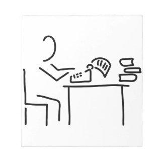 autor schriftsteller schreibmaschine bloc de notas
