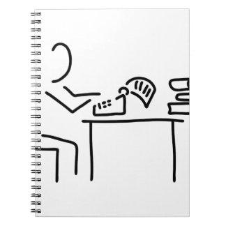 autor schriftsteller schreibmaschine spiral notebook