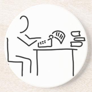 autor schriftsteller schreibmaschine posavaso para bebida