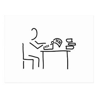 autor schriftsteller schreibmaschine tarjetas postales
