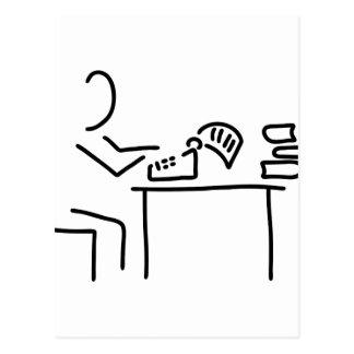 autor schriftsteller schreibmaschine postal