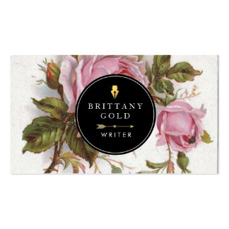 Autor, tarjeta de visita del escritor - femenino