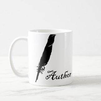 Autor y canilla taza de café