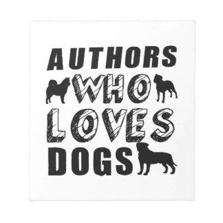 autores que ama perros bloc de notas