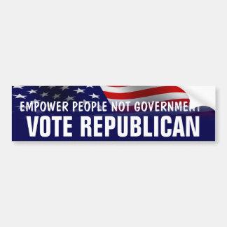 Autorice al republicano del voto de la gente - Rom Pegatina Para Auto