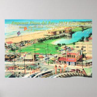Autorice Playa del Rey - 2014 ninguna frontera Póster