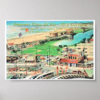 Autorice Playa del Rey - frontera 2014 de la pulga Poster