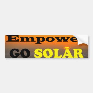 Autorice van pegatina para el parachoques solar pegatina para auto