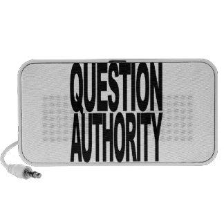 Autoridad de la pregunta laptop altavoces