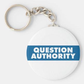 Autoridad de la pregunta - azul llavero personalizado