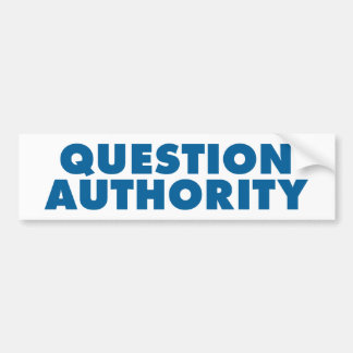 Autoridad de la pregunta - azul pegatina para auto