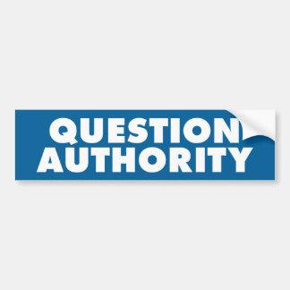 Autoridad de la pregunta - B azul Pegatina Para Auto