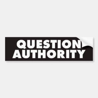 Autoridad de la pregunta - B negro Pegatina Para Auto