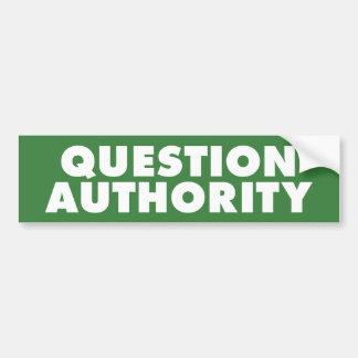 Autoridad de la pregunta - B verde Pegatina Para Auto