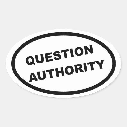 Autoridad de la pregunta (elipse) pegatina ovalada