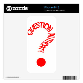 Autoridad de la pregunta calcomanías para iPhone 4