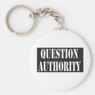 Autoridad de la pregunta llavero