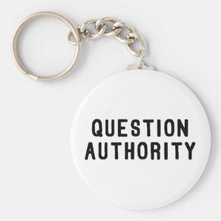 Autoridad de la pregunta llaveros