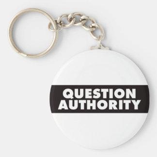 Autoridad de la pregunta - negro llavero personalizado