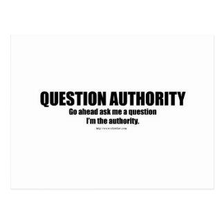 Autoridad de la pregunta postales