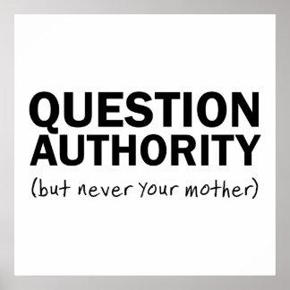 Autoridad de la pregunta póster