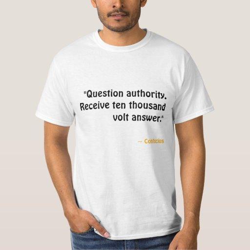 Autoridad de la pregunta. Reciba la respuesta Remeras