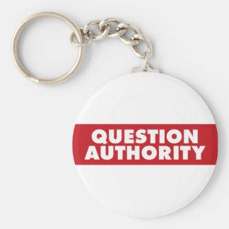 ¡Autoridad de la pregunta - rojo! Llavero