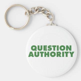 Autoridad de la pregunta - verde llaveros
