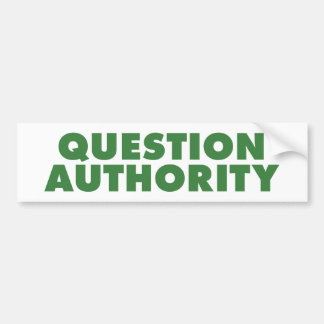 Autoridad de la pregunta - verde pegatina para auto