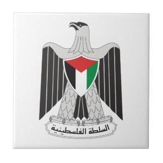 autoridad de Palestina del emblema Azulejo Cuadrado Pequeño