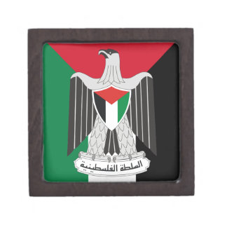 autoridad de Palestina del emblema Cajas De Joyas De Calidad