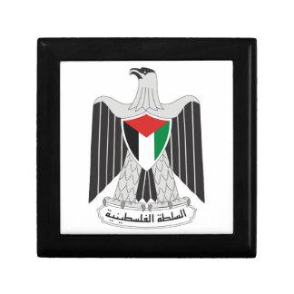 autoridad de Palestina del emblema Joyero Cuadrado Pequeño