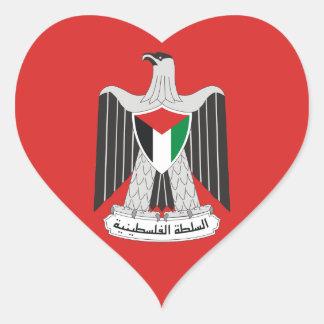 autoridad de Palestina del emblema Pegatina En Forma De Corazón