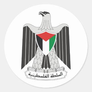 autoridad de Palestina del emblema Pegatina Redonda