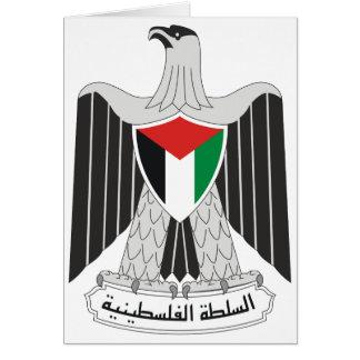 autoridad de Palestina del emblema Tarjeta De Felicitación
