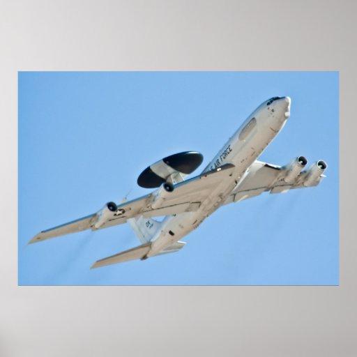 AUTORIZACIÓN 83 0009 AWACS del centinela de E-3A Posters