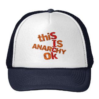 Autorización de la anarquía gorra
