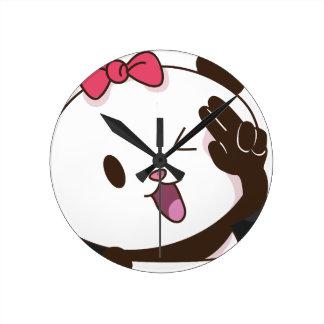 ¡AUTORIZACIÓN linda de la panda del chica! Reloj Redondo Mediano