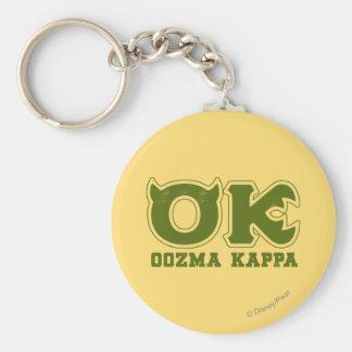 AUTORIZACIÓN - logotipo de OOZMA KAPPA Llavero Redondo Tipo Pin