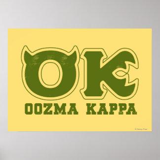 AUTORIZACIÓN - logotipo de OOZMA KAPPA Poster