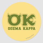 AUTORIZACIÓN - logotipo de OOZMA KAPPA Etiquetas Redondas