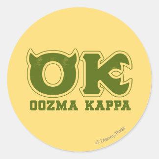 AUTORIZACIÓN - logotipo de OOZMA KAPPA Pegatina Redonda