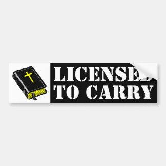 Autorizado para llevar pegatina para auto